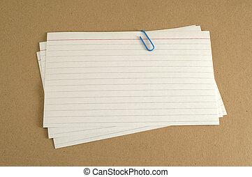kártya, mutatóujj, irattartó