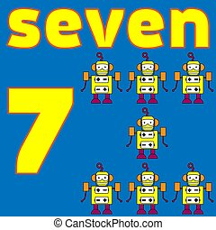 kártya, number., mathematics., education., vektor, illustration., worksheet, helyett, gyerekek