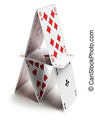 kártya, piramis