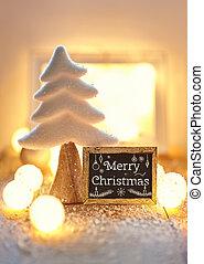 kártya, szöveg, köszönés, vidám christmas