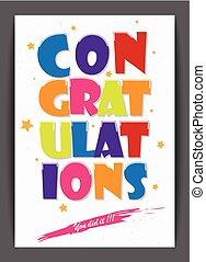 kártya, tervezés, gratulálok
