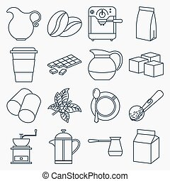 kávécserje, áttekintés, gyűjtés, ikonok