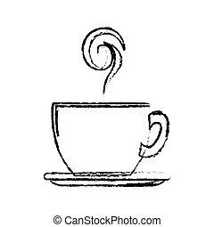 kávécserje bögre, ikon