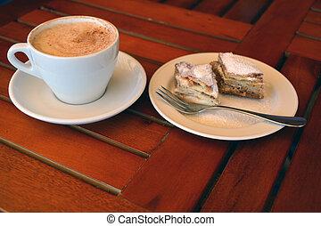 kávécserje, baklava, fekete, csésze