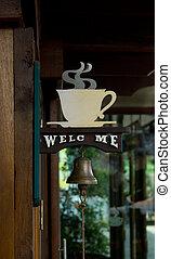 kávécserje bevásárlás, aláír
