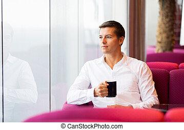 kávécserje, ember, birtoklás, fiatal