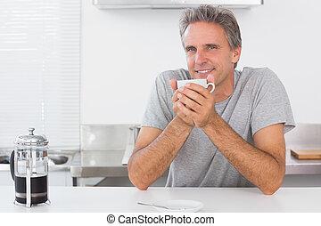 kávécserje, ember, birtoklás, konyha