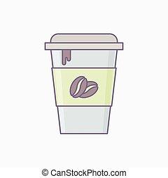 kávécserje fej, csésze