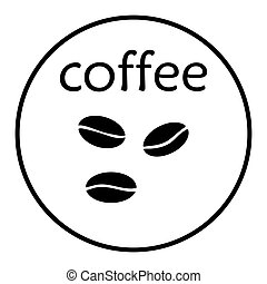 kávécserje fej, ikon