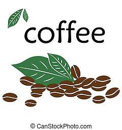 kávécserje fej, zöld