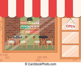 kávécserje, háttér, bolt