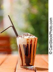 kávécserje, jégbe hűtött, korbácsolás, krém