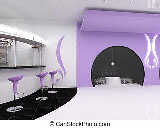 kávécserje, modern, étterem, szobai, tervezés, berendezés
