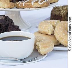 kávécserje, pastr, büfé, kontinentális, letesz asztal, ...