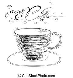 kávécserje, reggel