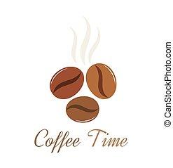 kávécserje, vektor, bab