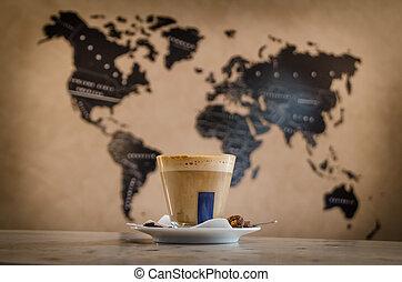 kávécserje, világszerte
