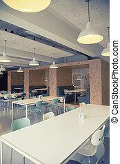 kávéház, alatt, irodaépület