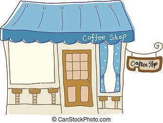 kávéház, ikon