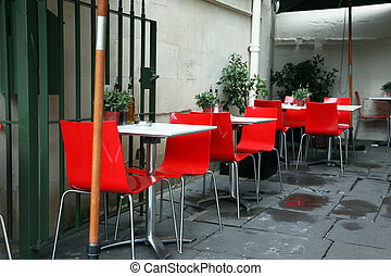 kávéház, utca, klasszikus, európai