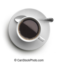 kávéscsésze, felül, kilátás