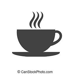 kávéscsésze, ikon