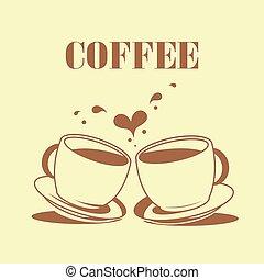 kávový šálek, vektor