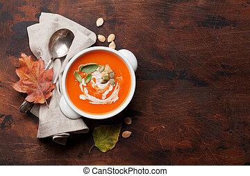 kã¼rbis, creme suppe