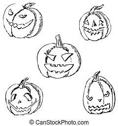 Drawing Halloween Hand Zombie Vektor Hintergrund