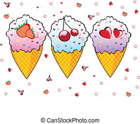 käglor, tre, cream., is