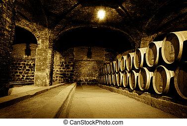 källare, vin