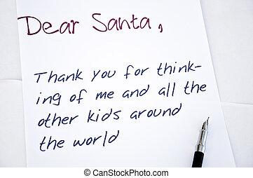 kära santa, brev