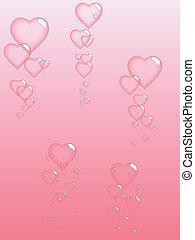 kärlek, bubblar, sky.