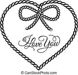 kärlek, dig, -, card.