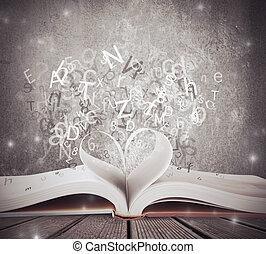 kärlek, för, bok