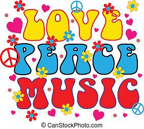 kärlek, fred, musik