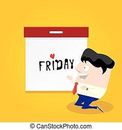 kärlek, gud, concept., fredag, tack, den er