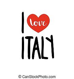kärlek, italien