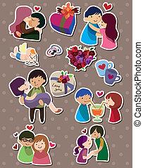 kärlek, klistermärken