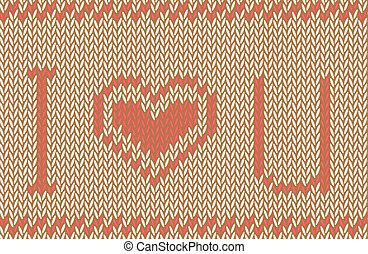 kärlek, mönster, rynkat, bakgrund., vektor, dig