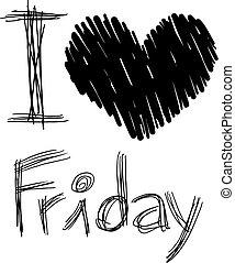kärlek, meddelande, fredag, konst