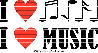 kärlek, musik