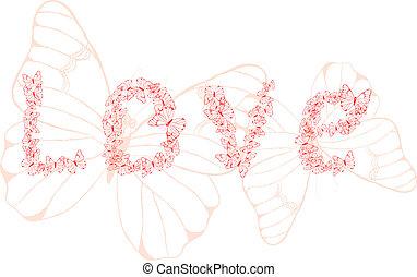 kärlek, ord