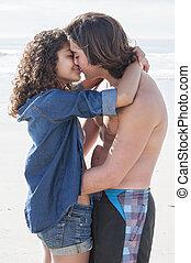 kärlek, stranden