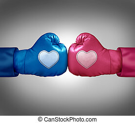 kärlek, stridande