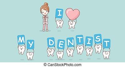 kärlek, tandläkare, min