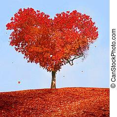kärlek, träd
