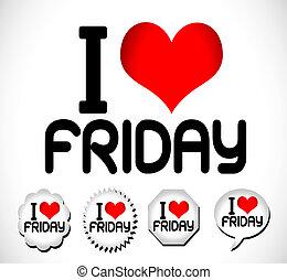 kärlek, vecka, dagar