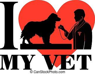 kärlek, veterinär, min