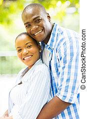 kärleksfullt par, afrikansk